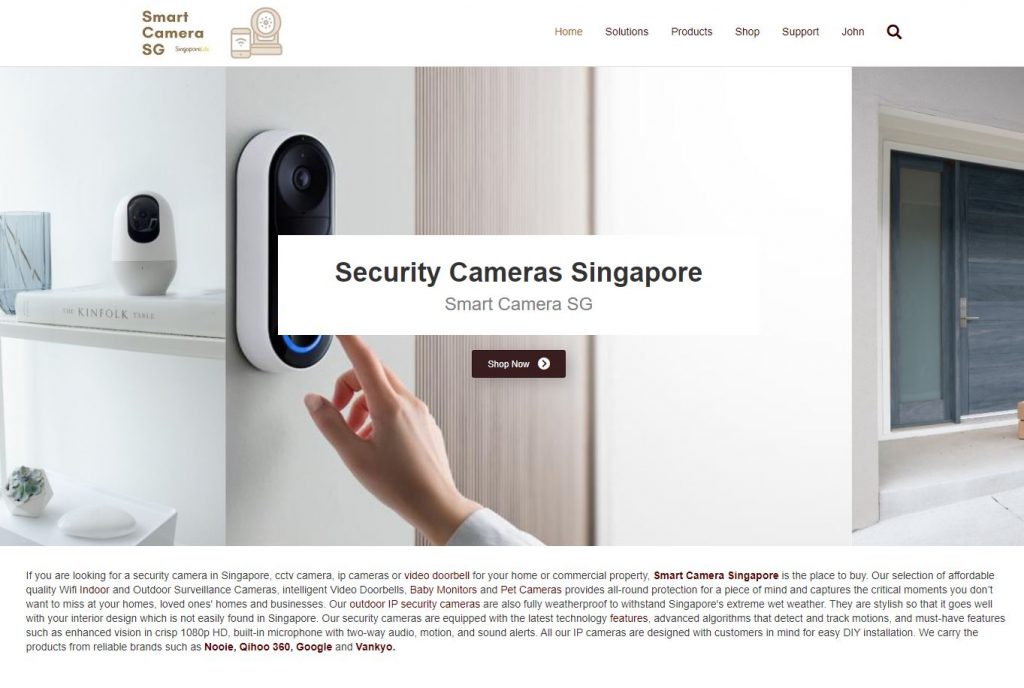 Smartcamerasg home